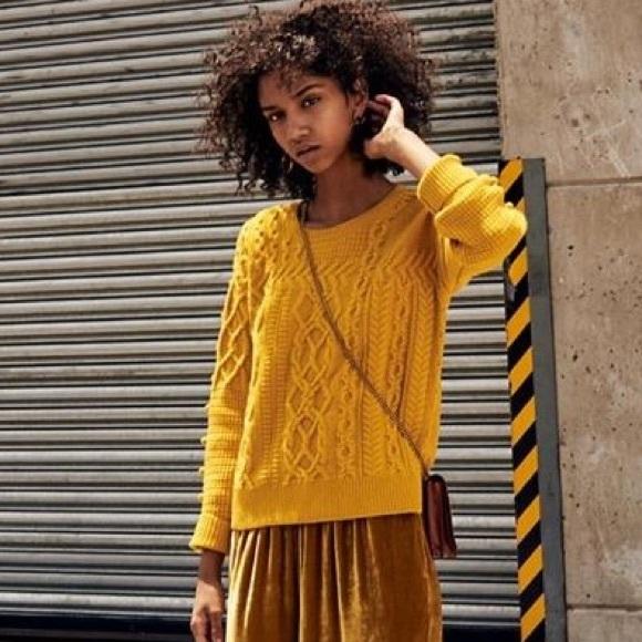 ed868a0c8f Madewell Sweaters - Madewell bobble yellow Pom Pom chunky sweater